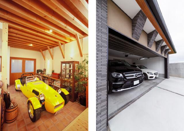 ガレージのある家写真